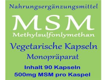MSM Methylsulfonylmethan 90 Kapseln mit je 500mg