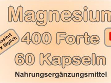 Magnesium Forte 60 Kapseln mit 400mg