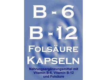 Vitamin B-6, B-12 + Folsäure 90 Kapseln